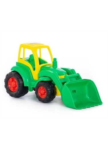 Polesie Polesie 0476 Şampiyon Kovalı Oyuncak Traktör Yükleyici Yeşil Renkli